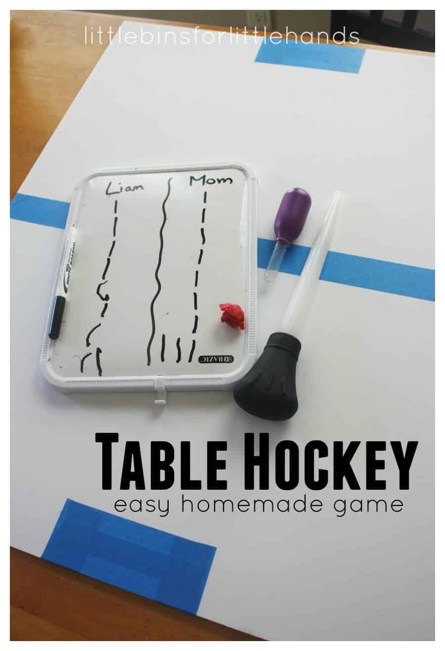Table Hockey Homemade Game for Fine Motor Skills