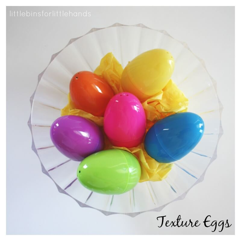 Texture Eggs Easter Basket Idea