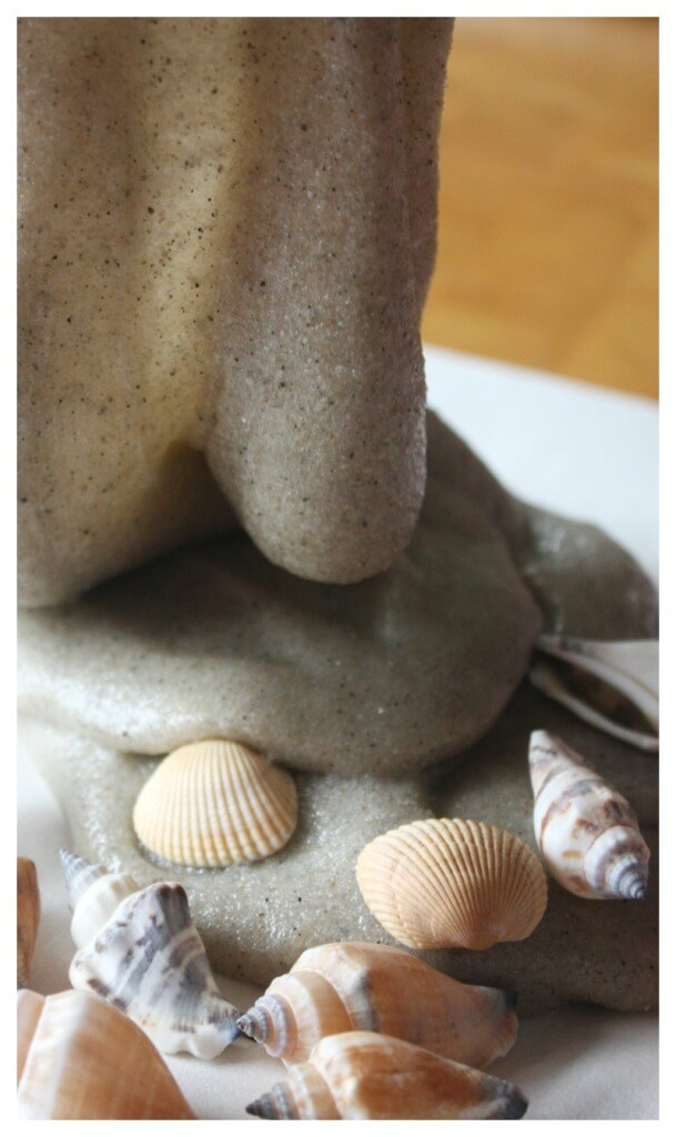 sand slime and seashells