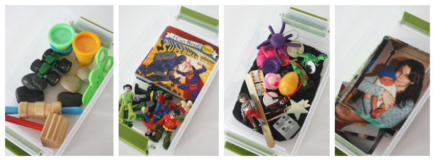 25 Busy Boxes Play Dough Super Heros Mystery Bag Family Photos