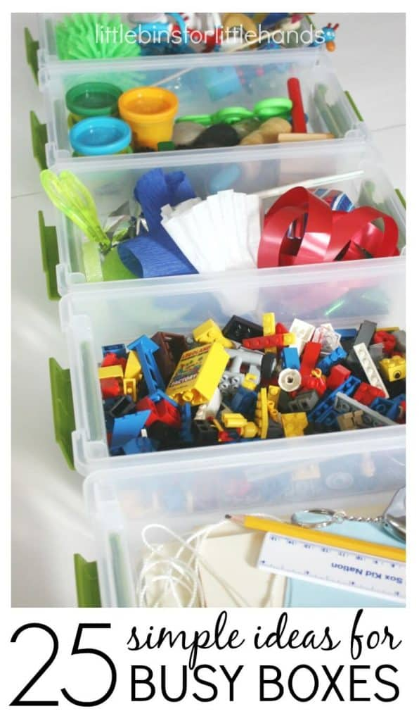 25 Busy Boxes Simple Ideas for Busy Bags