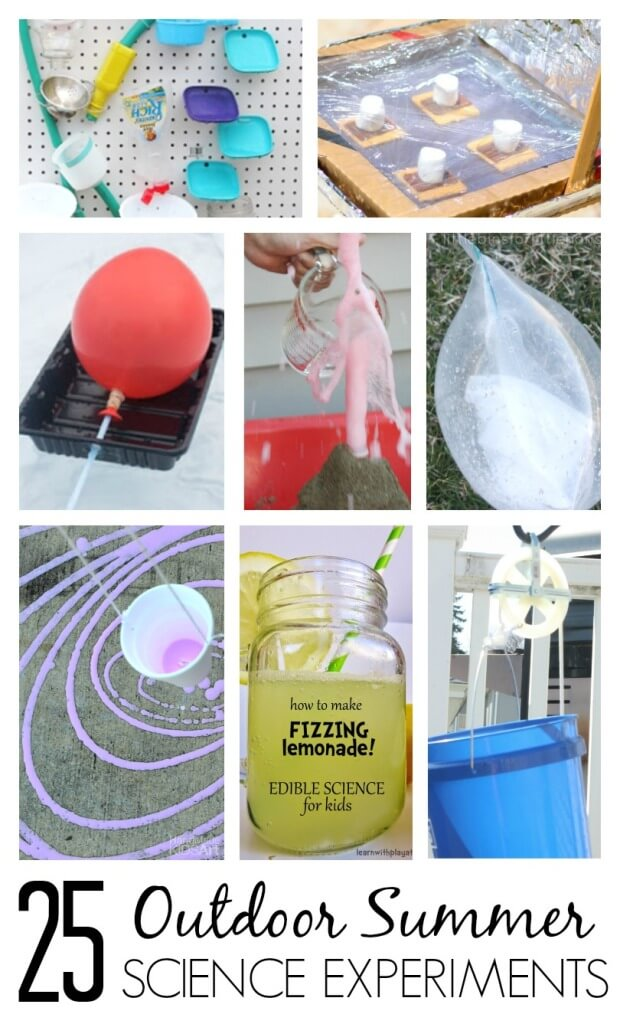 Awesome summer science experiments and activities for kids to do both indoors and outdoors. Try summer science activities outdoors for screen free, un plugged play and learning.