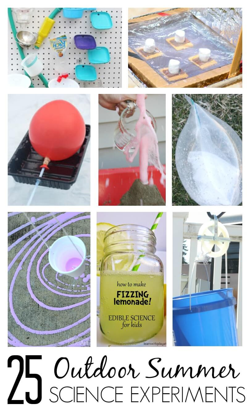 Summer Science Experiments for Outdoor Science Play