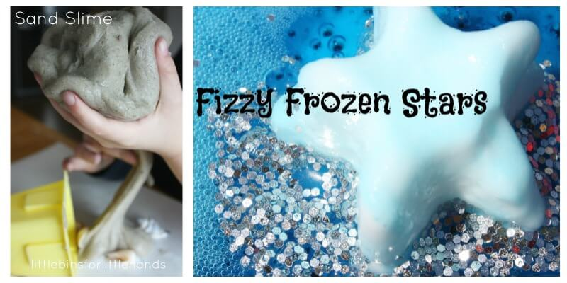25 Summer Science Fizzing Stars Sand Slime