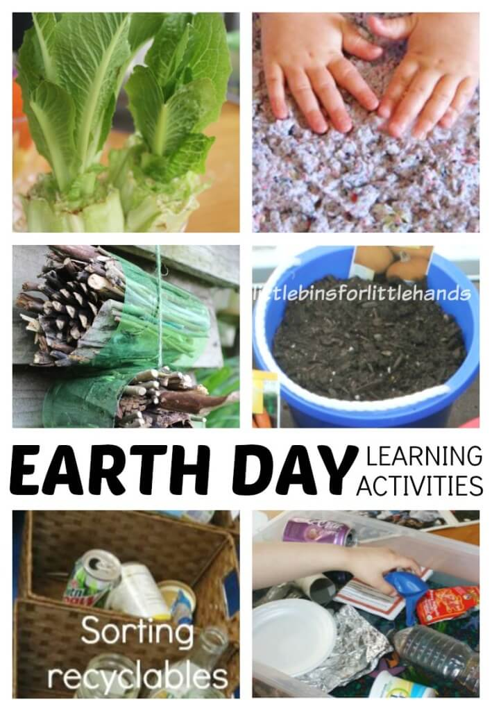 EARTH DAY ACTIVITIES for Earth Day science and STEM ideas! Easy Earth Day theme projects for kids ages 3-9 including preschool, kindergarten, and early elementary age kids! Easy to set up Earth Day science activities for any season!