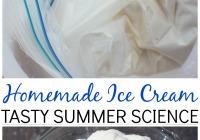 Homemade Ice Cream In a Bag Edible Science Summer Activity