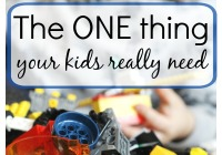 One thing your kids need