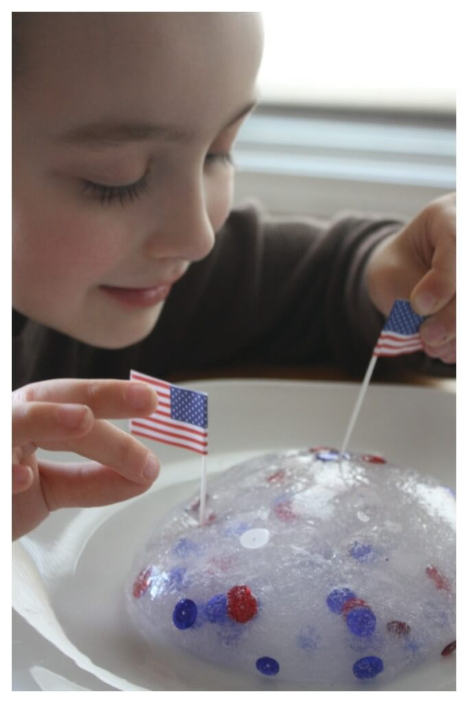 Patriotic Slime Flag Activity Easy Slime Recipe