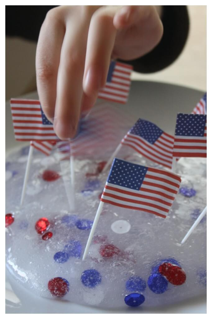 Patriotic Slime Recipe for Fine Motor Sensory Play