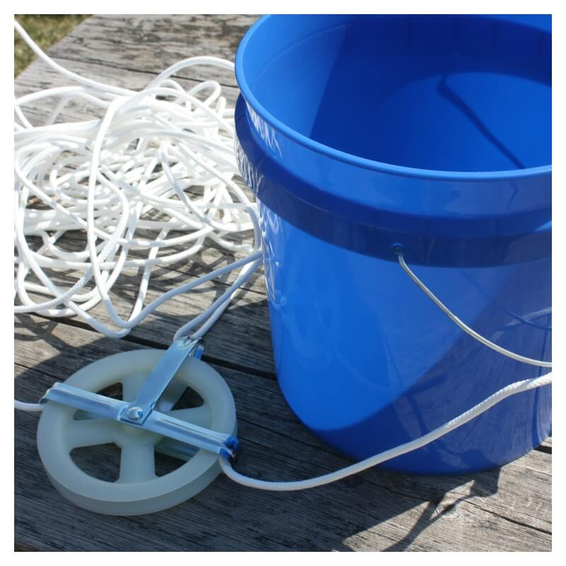 Rope Bucket Pulley Machine Supplies for Outdoor pulley
