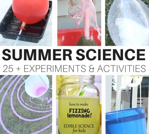 25 Awesome Outdoor Summer Science Experiments and Activities