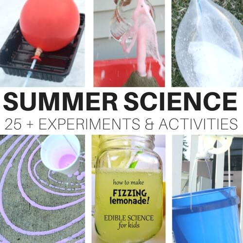 Simple summer science experiments and activities for kids including outdoor science activities.