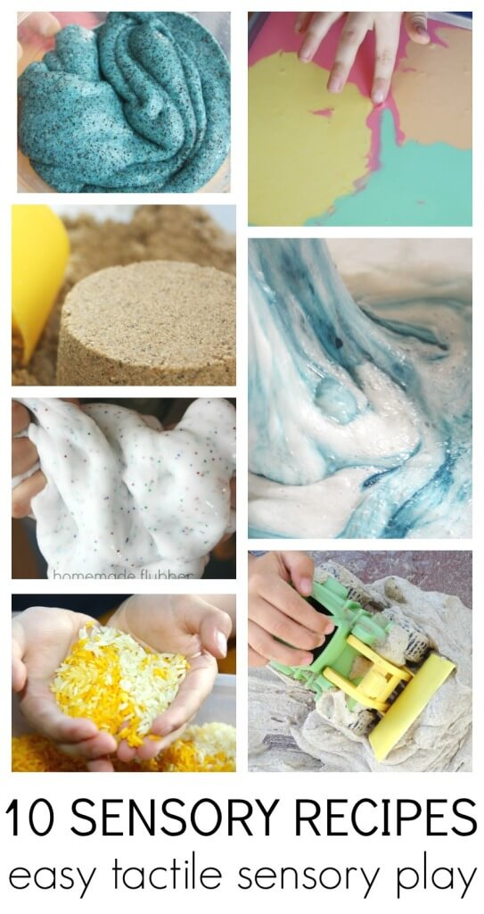 10 Sensory Recipes easy tactile sensory play ideas