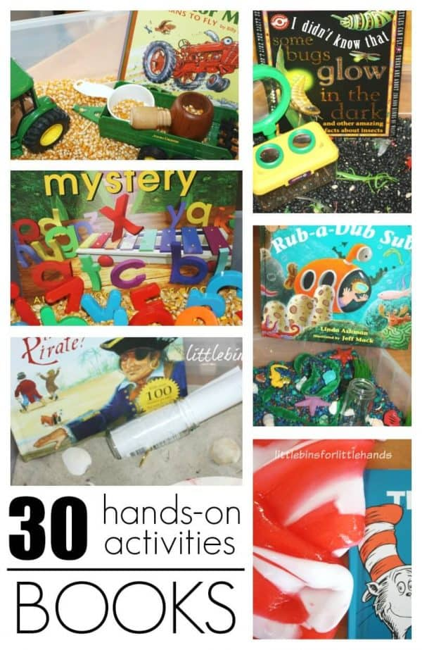 30 Hands On Book Activities Sensory Science Literacy Math
