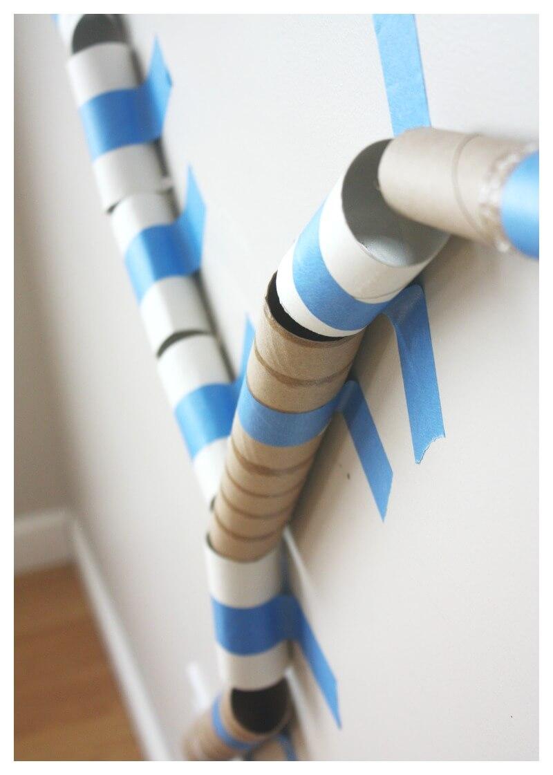 Cardboard Tube Marble Run Stem Activity For Kids