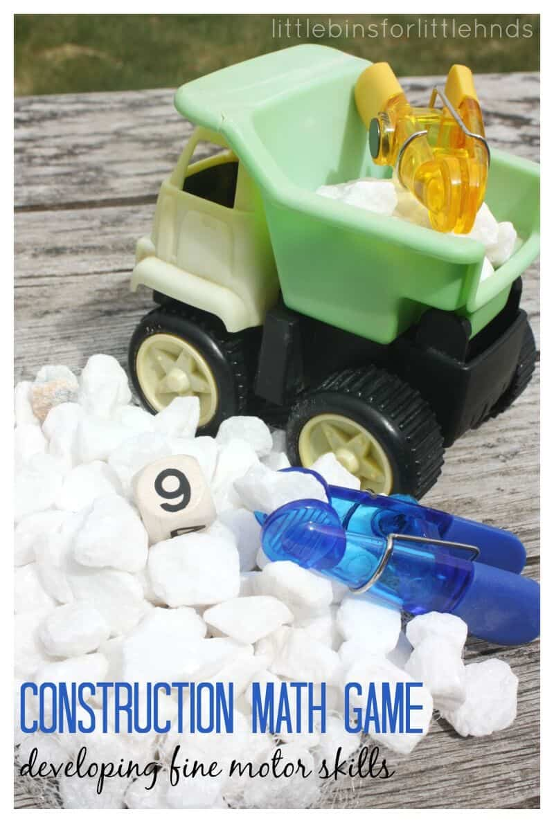 Develop Fine Motor Skills with Construction Math Game