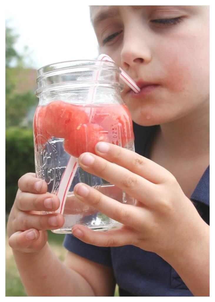 Frozen Summer Watermelon Ice Cubes Natural Fruit Water Keep Kids Hydrated