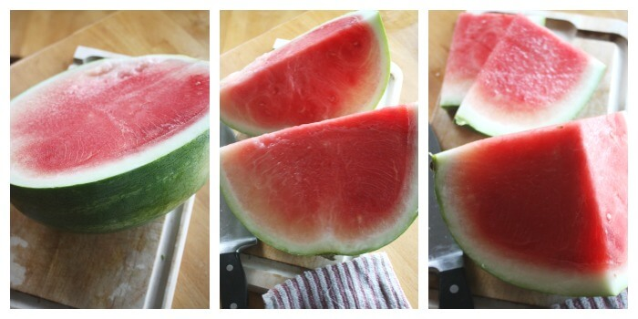 Frozen Summer Watermelon Pops Cutting Watermelon