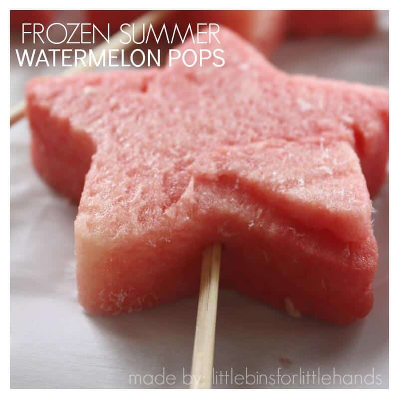 Frozen Summer Watermelon Pops Healthy Summer Recipe