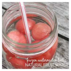 Frozen Watermelon Ice Balls To Add to Summer Water Drinks