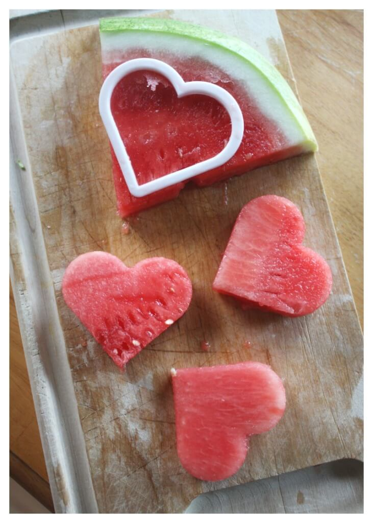Frozen Watermelon Pops Heart Shape Pops