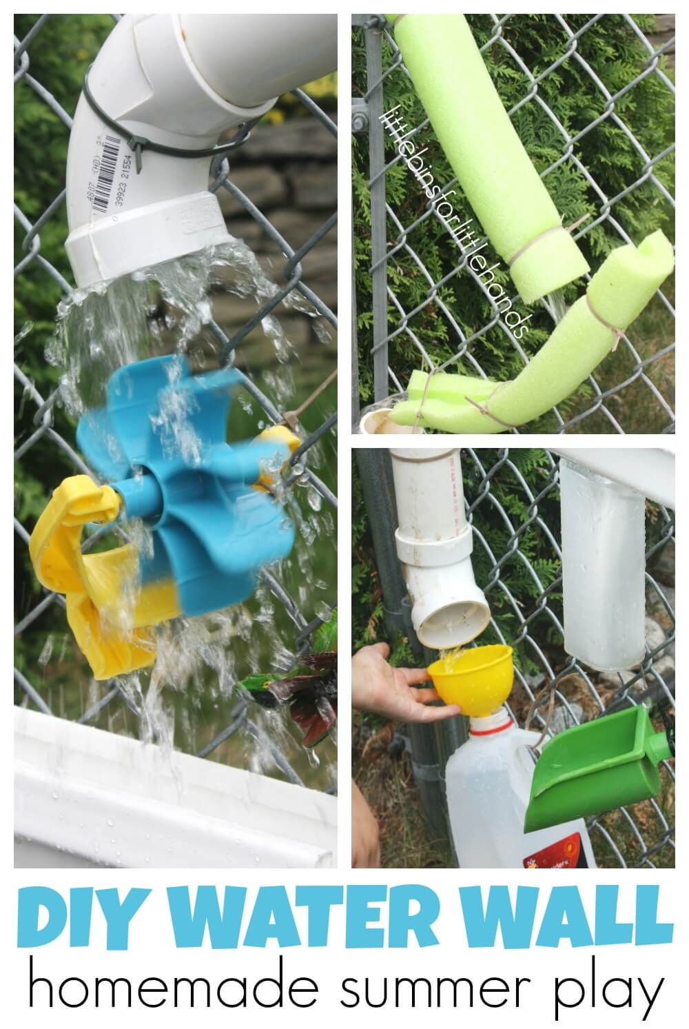Homemade Water Wall Summer Water Play For Kids