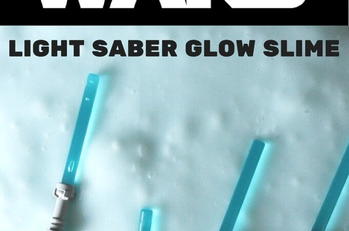 Glow In the Dark Light Saber Lego Star Wars Slime