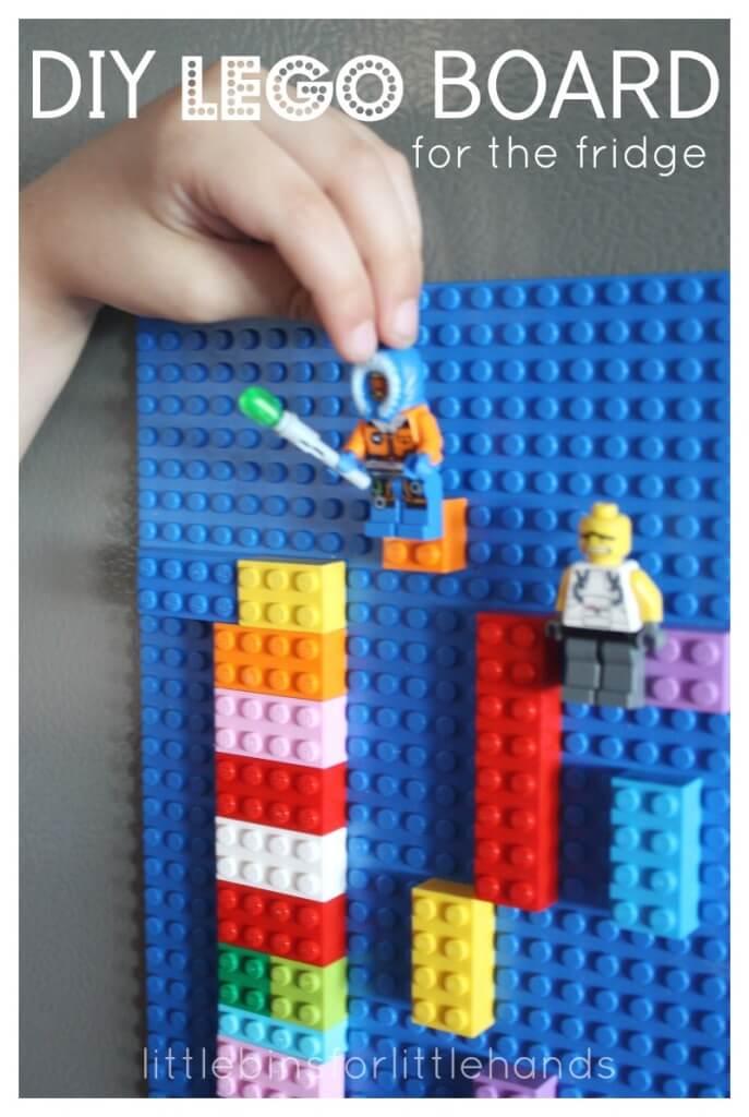 Lego Board DIY Lego Magnet Board for the fridge