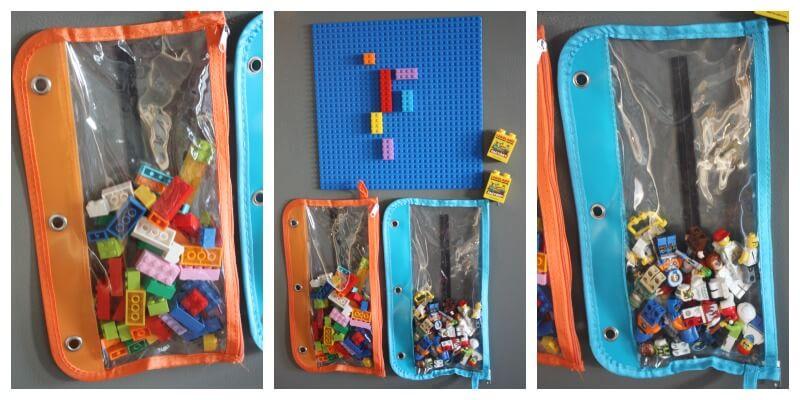 Lego Board Magnetic Pockets Hold Legos On Fridge