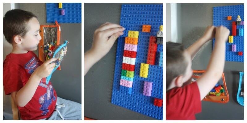 Lego Board Play DIY Magnetic Lego Board