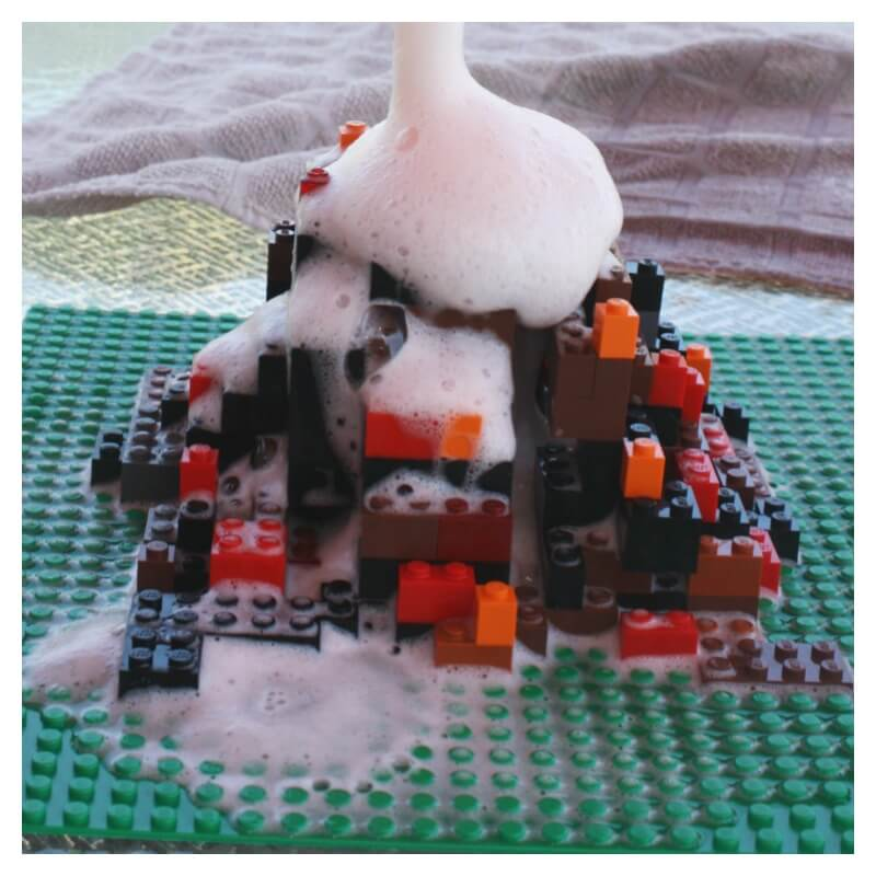 Lego Volcano Science Build A Lego Volcano Baking Soda