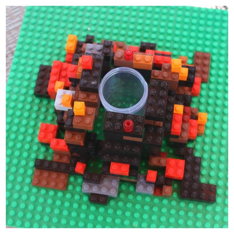 Lego Volcano Building a Lego Volcano Test Tube Support
