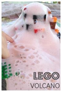 Lego Volcano Science Experiment Build a Lego Volcano