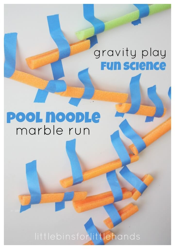 Pool Noodle Marble Run Gravity Activity