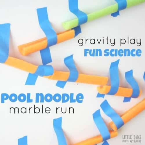Stem Summer School Year 12: Pool Noodle Marble Run STEM Activity
