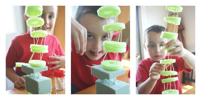 Pool Noodle Structures Engineering Idea for Kids Toothpick Structures