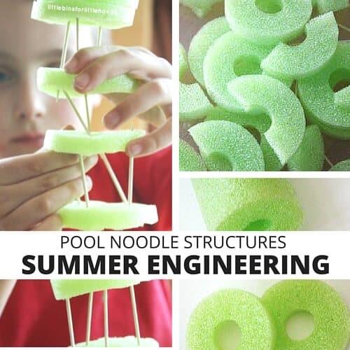 Pool Noodle Structures Summer STEM for Kids