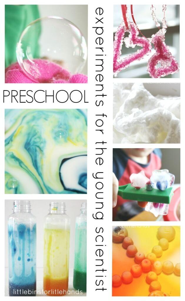 Kindergarten and preschool science experiments and activities.