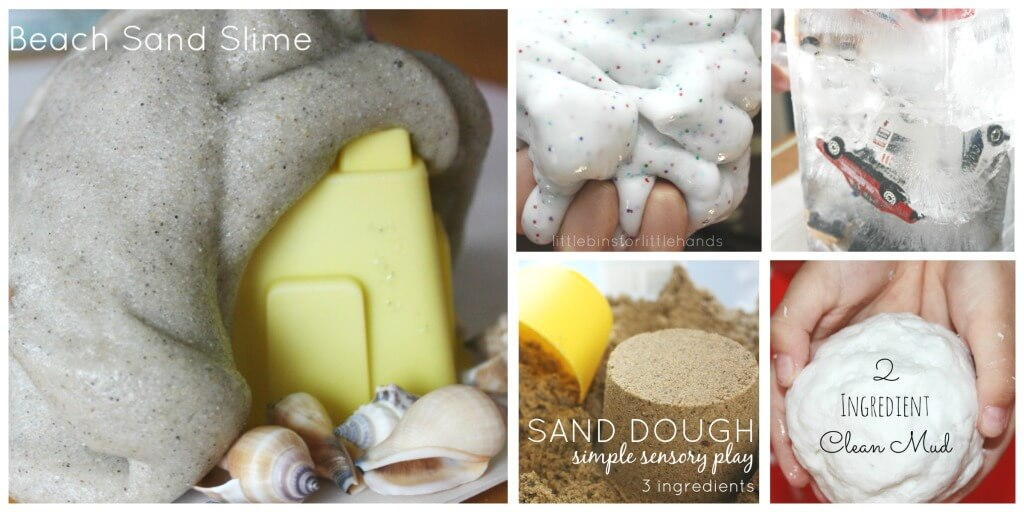 Sensory Play Recipes Sensory Play Activities Slime Ice Dough Clean Mud Flubber