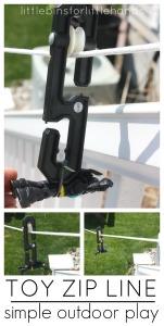 Toy Zip Line Outdoor Play Idea Homemade zip line pulley