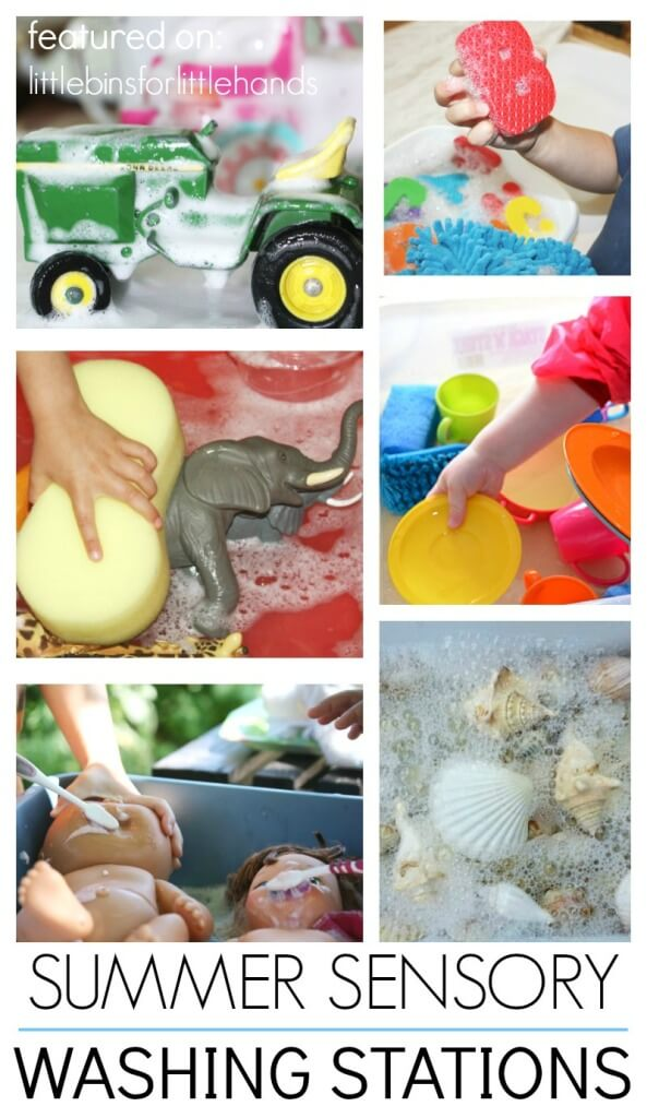 Washing Activities for Summer Water Sensory Play