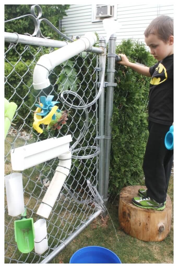 Water Wall DIY Outdoor Play