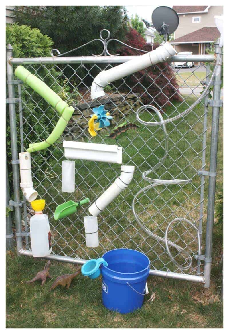 Homemade water wall summer water play for kids for Homemade diy