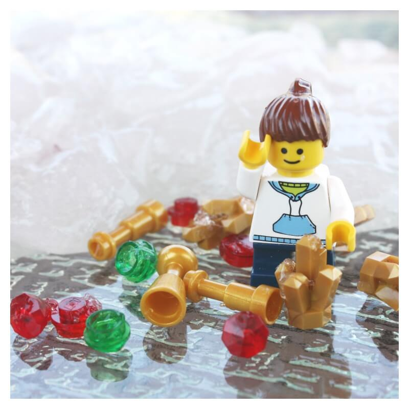 lego treasure slime fine motor play activity