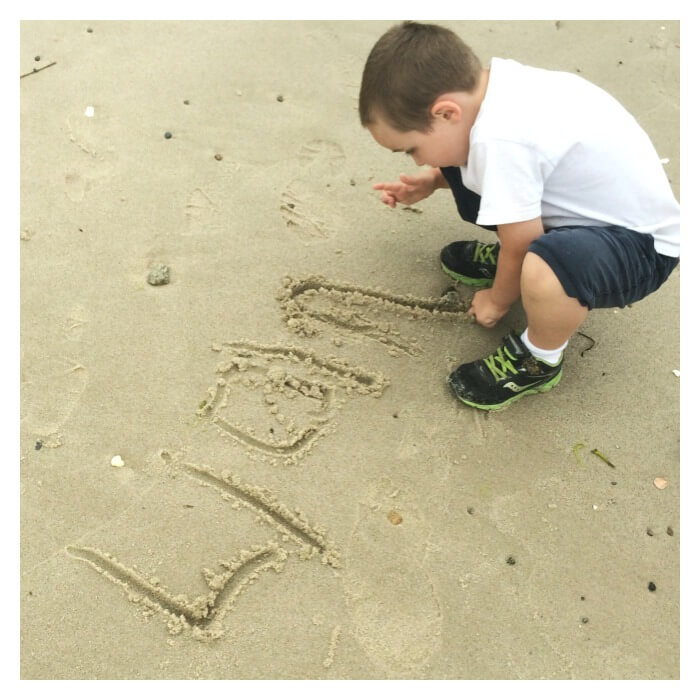 Beach Learning Activities Writing in Sand