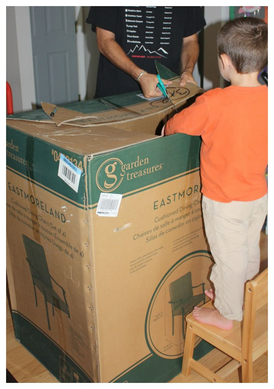 Cardboard box rocket ship diy rocket ship for kids for How to make a letterbox out of cardboard