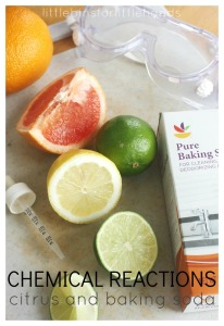 Citrus Chemical Reactions Baking Soda Science STEAM
