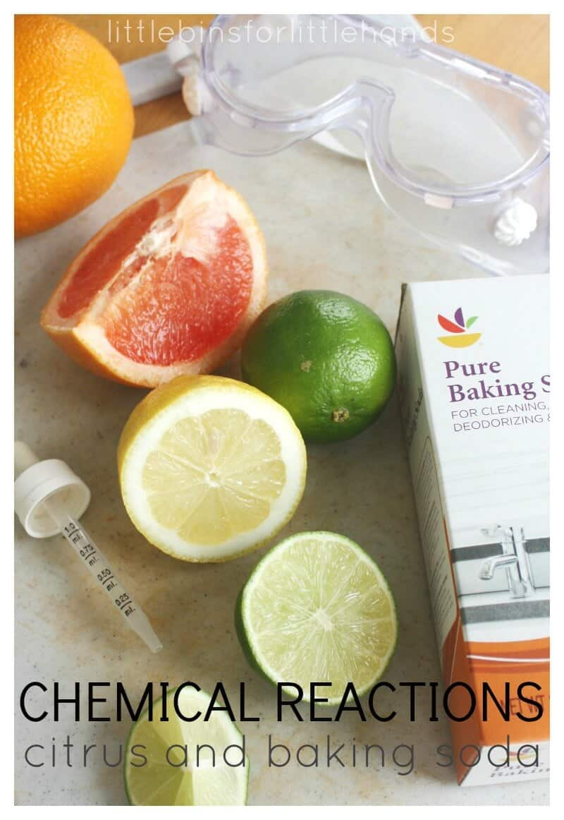 Citrus Chemical Reactions Baking Soda Science Experiment