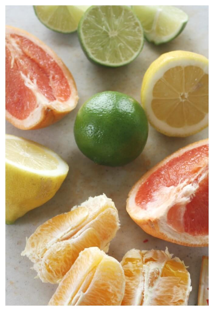 Citrus fruits for baking soda chemical reaction testing