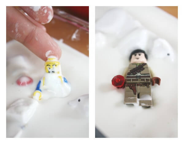 Cornstarch Goop Sensory Play and Legos